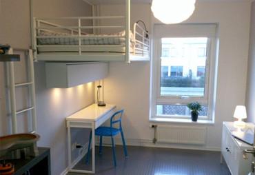 budget loftsäng med Ikeas Tromsö