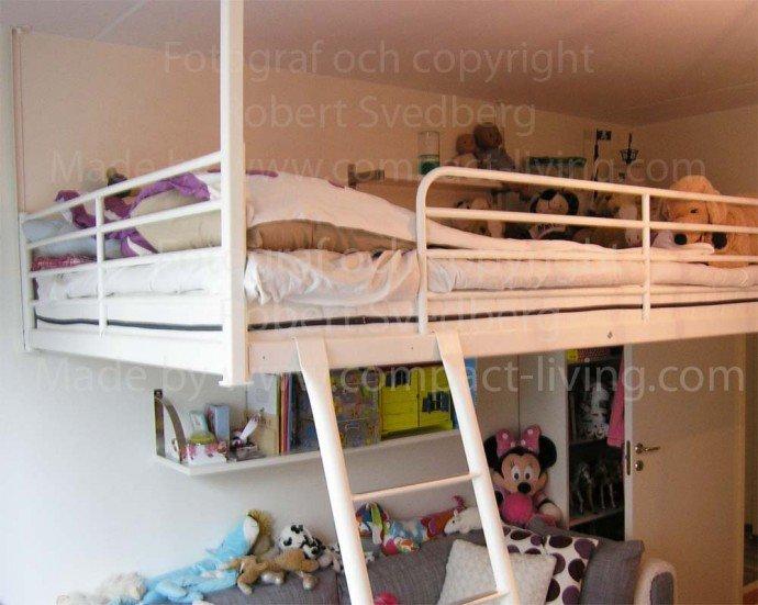 Med IKEAs loftsäng TROMSÖ, har vi 4 st beslag till för endast 1795:-